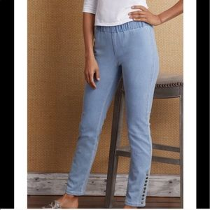 Soft Surroundings Blue Metro Ankle Pants Small